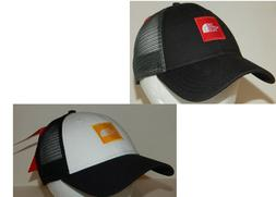 The North Face Trucker Hat / Cap Black / Red Adjustable Snap