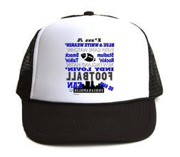 Trucker Hat Cap Foam Mesh I'm Blue White Indy Lovin Football