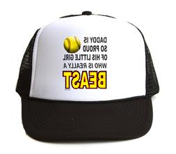 Trucker Hat Cap Foam Mesh Softball Daddy is So Proud Little