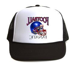 Trucker Hat Cap Foam Mesh Sports Football Fanatic Fan 3 Blue