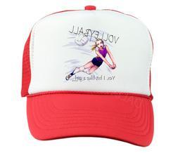 Trucker Hat Cap Foam Mesh Volleyball Sport Yes I Hit Like a