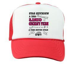 Trucker Hat Cap Foam Mesh Whoever said Diamonds Girls Best F