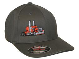 TRUCKER HAT FLEXFIT FITTED CAP RIG TRACTOR PETERBILT KENWORT