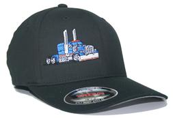 TRUCKER HAT FLEXFIT FITTED CAP BIG RIG TRUCK PETERBILT KENWO