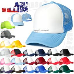 Trucker Hat Mesh Back Baseball Foam Cap Solid Snapback Adjus