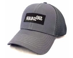 Sig Sauer Trucker Hat Gray Mesh Back Baseball Cap ~ Free Shi