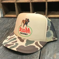 Mack Trucker Hat Vintage 80's SnapBack Brown Hunting Old C