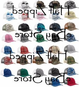 trucker patterned snapback cap 112p baseball hat