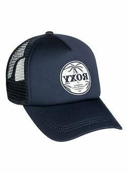 New ROXY Color Crown Blue Truckin Womens Snapback Trucker Hat Cap