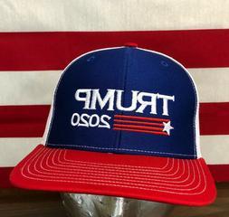 Trump 2020 Flag Hat Richardson 112 Trucker Cap  Red /White &