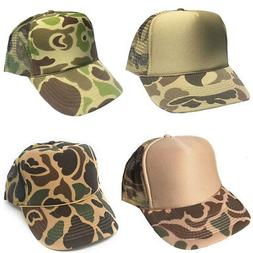 Two Tone Camo Camouflage Hunting Trucker Baseball Foam Mesh