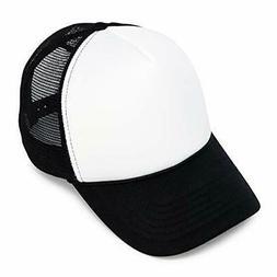 DALIX Two Tone Summer Mesh Cap in Black and White Trucker Ha