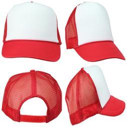 DALIX Two Tone Trucker Hat Summer Mesh Cap W Adjustable Snap