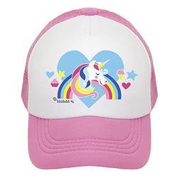 best cheap 435c6 fdbaf Unicorn on Kids Trucker Hat. The Kids Baseball Cap is Availa