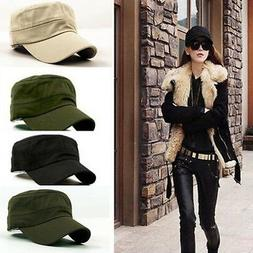 Unisex Mens Womens Check Cadet Cap Army Military Stretch fit