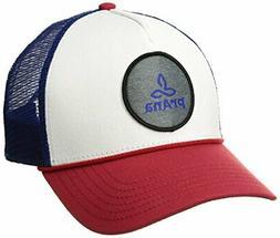 prAna Unisex Patch Logo Trucker, Red White Blue, One Size