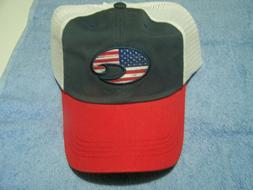 Costa Del Mar United Trucker Hat Red / White / Navy