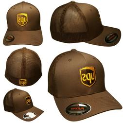 UPS FLEXFIT Style 6511 Trucker Mesh Embroidered on Front & B