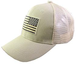 US American Flag Patch Tactical Style Mesh Trucker Baseball
