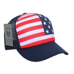 usa american flag graphic foam mesh trucker