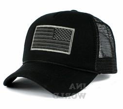 USA American Flag Hat Foam Mesh Trucker Snapback Embroidered
