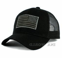USA American Flag Hat Tactical Operator Snapback Mesh Trucke