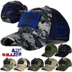 Tactical Military Baseball Cap USA American Flag Hat Dad Adj