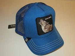 USA NEW Goorin Bros WOLF Blue Trucker Mesh Hat Animal Baseba