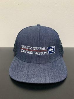 USPS DENIM Mesh Trucker Snapback United States Postal Servic
