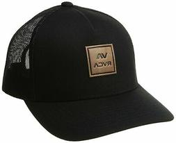 RVCA Va All The Way Curved Brim Trucker Hat One Size Black