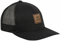RVCA VA All The Way Curved Brim Trucker Hat - Black - New