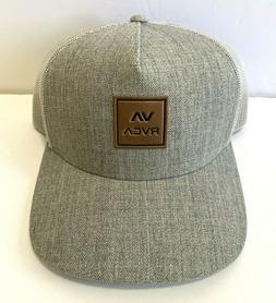 RVCA VA All The Way Curved Brim Trucker Hat Mens Light Grey