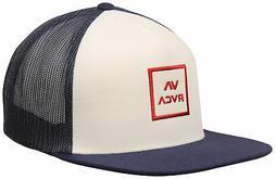 RVCA VA All The Way Trucker Hat - White / Navy - New