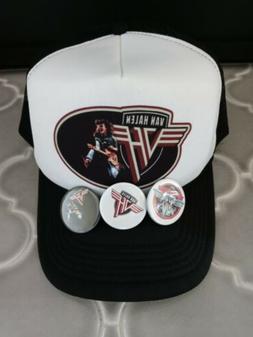 Van Halen Trucker Hat Dad Retro 80's shirt Collectable Kiss