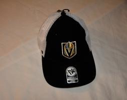 "Vegas Golden Knights stretch fit black trucker hat by ""47 Br"