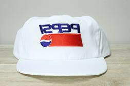 Vintage 90's Pepsi White Embroidered Snap Back Trucker Hat
