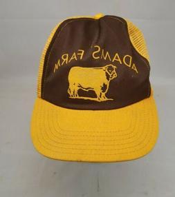 """Vintage """"Adams Farm""""  Mesh Snapback Trucker HAT CAP Vtg Adam"""