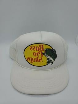 Vintage Bass Pro Shop Men's Mesh Snapback Trucker Cap Hat Wh