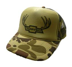 Vintage Chevy Trucks Hat trucker hat snap back Green Camoufl