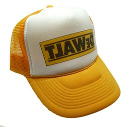 Vintage DeWalt tools Hat Trucker Hat snap back cap yellow Ne