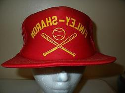 Vintage FINLEY SHARON North Dakota MESH SNAPBACK Baseball Ca