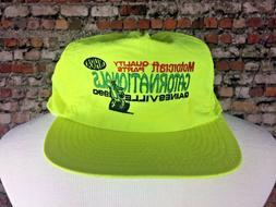 Vintage NHRA1990s GATORNATIONALS Nylon Trucker Hat Neon Snap