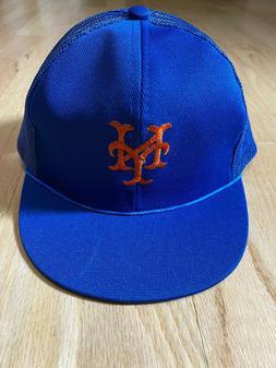 Vintage NWOT New York Mets Blue Youth Snapback Mesh Trucker