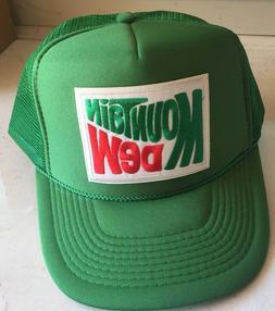 Vintage style MOUNTAIN DEW Green Trucker Cap Hat retro 1970s