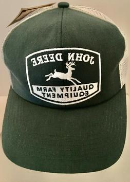 Vintage JOHN DEERE Teal Green / White Mesh Trucker Hat Snapb