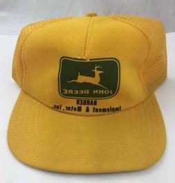 Vintage JOHN DEERE  Trucker Hat Cap Snap Back Mesh/Foam