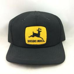 VTG John Deere SnapBack Trucker Patch Hat Cap Made in USA Bl