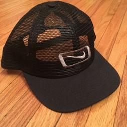Vtg Nike Mesh Trucker Hat 90s Black NWOT Rap Off White SnapB