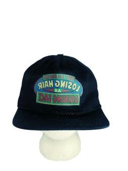 Vtg Novelty Old Man Trucker Hat Snapback Funny Grandpa Cap