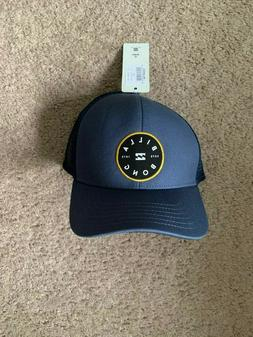 walled trucker hat navy blue new